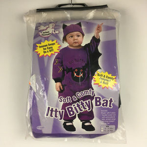 Bat infant baby toddler halloween costume 6-12 mth